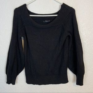 Vici Ribbed Wide Neck  Sweater Small